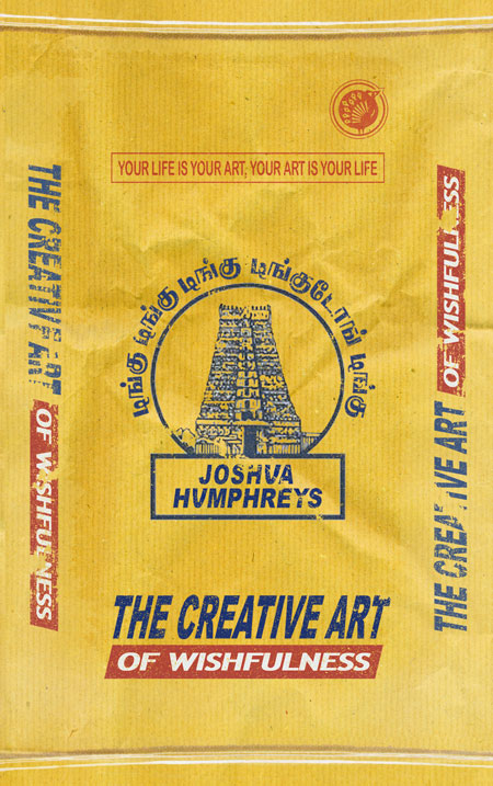 front cover of the creative art of wishfulness, joshua humphreys, wellness retreat, ubud, bali, india, comedy novel, hilarious,