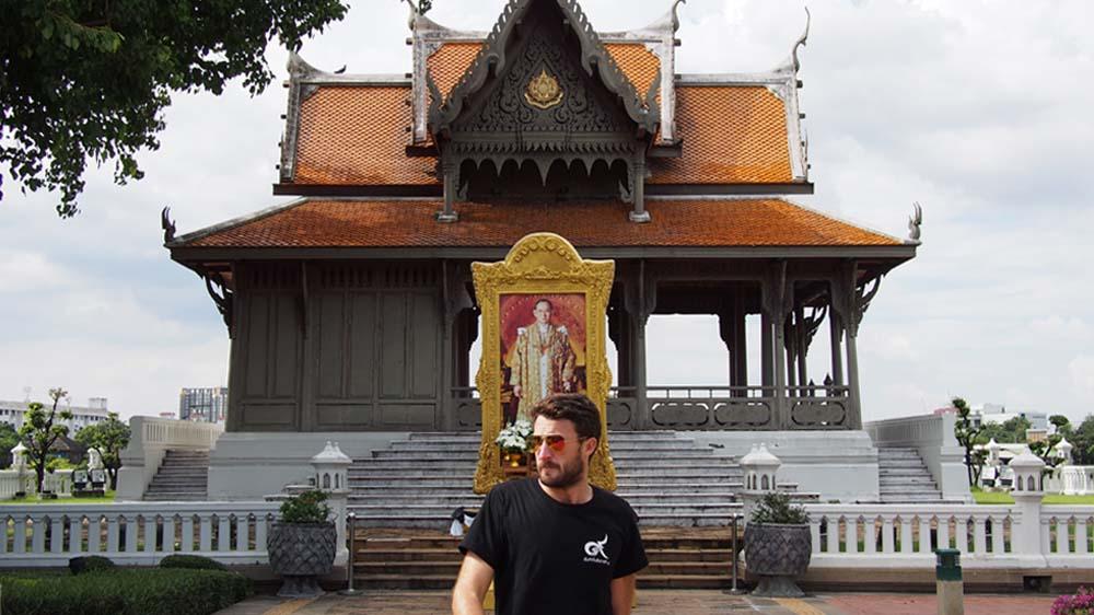 Author Joshua Humphreys in Bangkok just after the death of King Rama IX